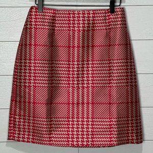 NWOT WHBM Plaid Pencil Skirt Size 4